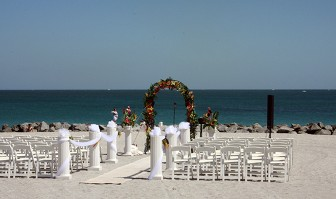 Ceremony Area on Sand and Rocks - Wedding Entertainment