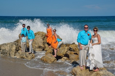 Beach Ceremony Wedding Party - Wedding Ceremony in Fort Lauderdale, FL